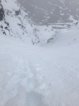 Deep snow all the way, and 600 vertical meters of great skiing